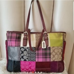 Authentic COACH patchwork oversized handbag Y2K